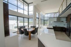 kitchen and dining to view
